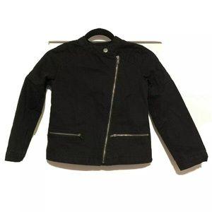 🌺 Girls Gap Kids Quilted Moto Jacket Sz MD EUC